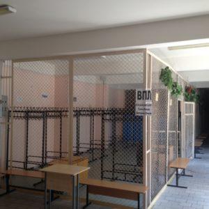 Стеклянный гардероб школа № 5556