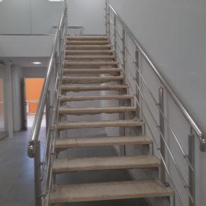 Ограждения лестницы из нержавеющей стали Цветочная 161