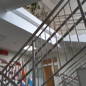 Ограждения из нержавеющей стали. Выборг. Школа№64