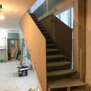 Стеклянное ограждение лестницы, Репино5