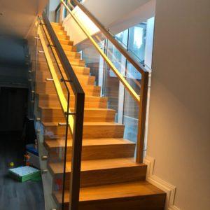 Стеклянное ограждение лестницы, Репино1