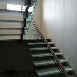 Стеклянное ограждение лестницы, Всеволожск3