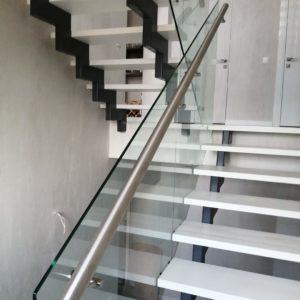 Стеклянное ограждение лестницы, Всеволожск2