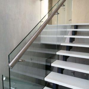 Стеклянное ограждение лестницы, Всеволожск1