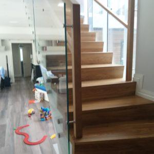 Стеклянное ограждение лестницы, Репино2