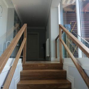 Стеклянное ограждение лестницы, Репино3